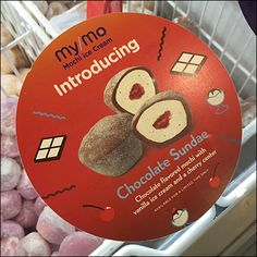 Introducing Mochi Ice Cream Sundaes Chocolate Sundae, Chocolate Flavors, Mochi Ice Cream, Vanilla Ice Cream, King Food, Cool Doors, Icecream Bar, Coffin, Retail