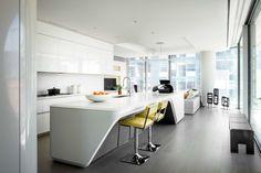 Kitchen. Zaha Hadid's High Line condo in West Chelsea.  Designer: Jennifer Post.