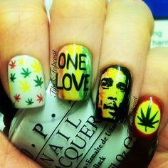 Bob Marley Nails #nail #nails #nailsart
