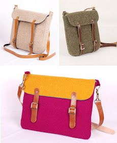 Harris tweed bags by Breagha (via Etsy)