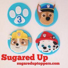 Edible Fondant Paw Patrol Cupcake Toppers by Sugared Up. Paw Patrol Party/Paw Patrol Cupcakes