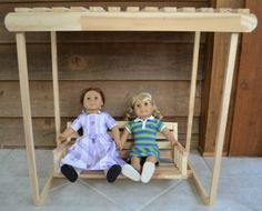 Doll Swing by TheWoodenWorkshops on Etsy, $85.00