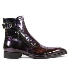Jo Ghost Italian Mens Shoes Marmo Col. 6 Metallic Blue Leather Boots (JG2104)