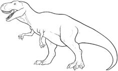 T Rex Coloring Pages Easy