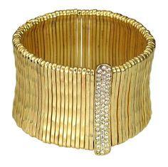 Gold Lined Stretch Bracelet with Pave by Be-Je Designs $120.00