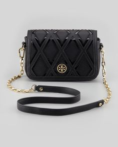 Robinson+Patchwork+Mini+Chain-Strap+Bag,+Black+by+Tory+Burch+at+Neiman+Marcus.