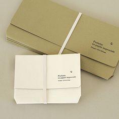 Pochette en papier improvisée... It's actually a cool idea, isn't it?