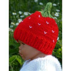 Bonnet fraise pour bébé Bonnet bébé de la naissance à 3 mois environ Taille  6 mois 2ab14a61607