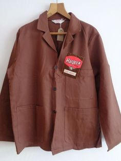7ade23353f0d Vtg NOS British cotton work workers chore WW2 style 40s lk jacket w  tag