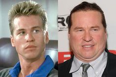 Actor Val Kilmer has changed quite a bit. Val Kilmer, Top Gun, Hollywood Stars, Tv Actors, Actors & Actresses, Stars D'hollywood, Aesthetics Bodybuilding, Celebrity Plastic Surgery, Celebrities Then And Now