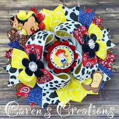 Jessie, Toy Story bow, stacked boutique bow, hair bow, Disney, over the top, cowgirl, girls hair accessories