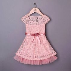 Beautiful, vintage style lace dress. Soft, stretchy and lightweight. Finished with a satin bow. It really is lovely! Sizes 12-18 months, 18-24 months, 2-3, 3-4, 4-5 and 5-6 years £19.99 with free UK delivery www.facebook.com/DiddyDarlings1 www.diddydarlings.co.uk