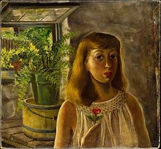 'Self-Portrait' (c.1929) by American painter Lee Krasner (1908-1984). Oil on canvas. 30.5 x 32.5 in. via the Met, NYC