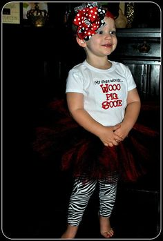 Arkansas Razorback Tutu Outfit by TickleMyTutu on Etsy, $33.95