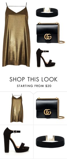 """Untitled #277"" by apeksha-singh-parikh ❤ liked on Polyvore featuring River Island and Gucci"