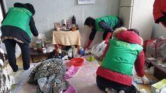 용당1동 지역사회보장협의체, 위기가구 청소