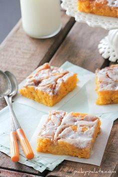 Cinnamon Roll Pumpkin Vanilla Sheet Cake. Hands down, one of the best cakes you will ever eat...perfect for holiday gatherings too!