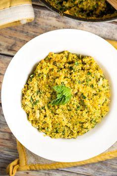 Amazing Polenta with Creamy Artichoke Pesto via veggiechick.com #vegan #glutenfree #MeatlessMonday
