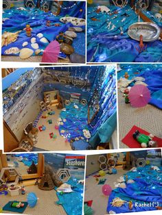 "British Columbia Kindergarten Social Studies Small World Beach Play - from Rachel ("",) Eyfs Activities, Ocean Activities, Nursery Activities, Animal Activities, Sharing A Shell, Play Corner, Early Years Classroom, Beach Play, Dramatic Play Centers"