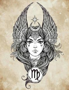If your zodiac sign is Virgo tattoos and you are looking for something very cool and amazing designs, Then here we have best virgo tattoos designs and ideas for men and women with meanings. Virgo Tattoo Designs, Pisces Tattoos, New Tattoos, Capricorn Tattoo, Thigh Tattoos, Virgo Art, Zodiac Art, Virgo Sign, Zodiac Horoscope