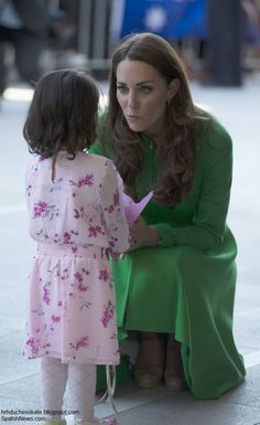 Love the real attention Kate gives....probably made this little girl feel like the most special person in the world!