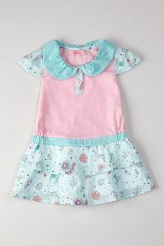Aqua Garden Peter Pan Collar Dress with Panty on HauteLook