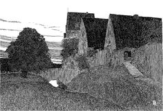 Cottages along the wall, 1904