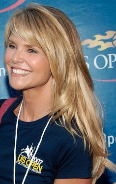 Christie Brinkley Long Side Part - Christie Brinkley Looks - StyleBistro