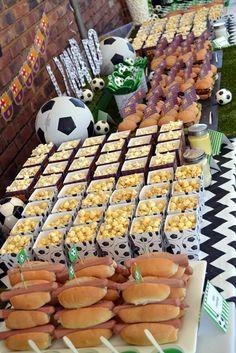 Barcelona Football Party Eats & Treats Table