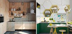 20 strakke, maar knappe keukenontwerpen #industrieel #modern
