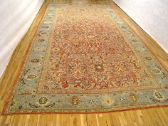 "Persian: Floral 24' 0"" x 12' 6"" Antique Sultanabad at Persian Gallery New York - Antique Decorative Carpets & Period Tapestries"