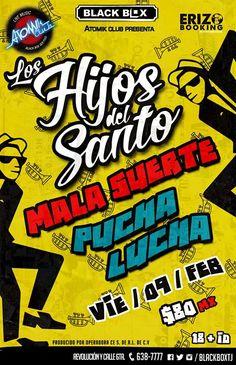 Este VIERNES 9 es de SKA en el Black Box Tijuana! LOS HIJOS DEL SANTO  La Mala Suerte  Pucha lucha  #concierto #ska #tijuana