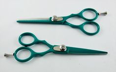 """5.5"""" Professional Salon Barber Hair Cutting Shear and Thinning Scissors Barber   #SilverColor"""