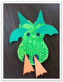 Dragon craft and other Preschool Ideas For 2 Year Olds: Fairy tale preschool projects for DRAGONS Preschool Projects, Daycare Crafts, Toddler Crafts, Preschool Crafts, Art Projects, Crafts For Kids, Preschool Ideas, House Projects, Craft Kids