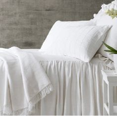 Build a bed you'll love with our collection of white bedding and ivory bedding. Shop duvet covers, coverlets, sheet sets, quilts, bed skirts and more! Ivory Bedding, White Bedding, Farmhouse Bedding Sets, White Bedspreads, Luxury Bedding Sets, Modern Bedding, Pillow Sale, Contemporary Bedroom, Beautiful Bedrooms