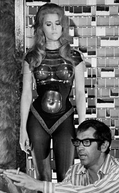 Barbarella ....An overly silly movie, but she was hot then and around 70 she is still smoking hot and could probably fit in these costumes.