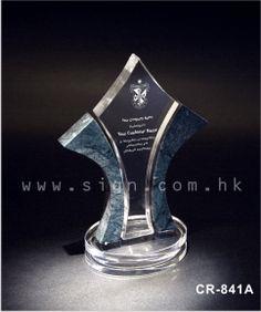 CR 841 A Crystal Trophy Award