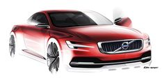 Volvo Concept Coupe rendering by T Jon Mayer