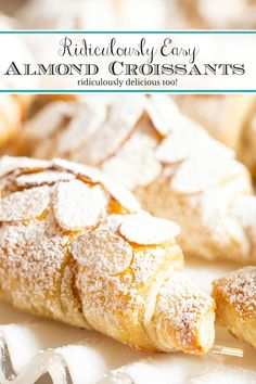 Put together these ridiculously delicious, ridiculously easy almond croissants that look like they come from a fine French patisserie in just 20 minutes (hands-on time)! #easyalmondcroissants, ##almondcroissants, #easycroissants via @cafesucrefarine Sweet Pastries, French Pastries, French Puff Pastry, French Desserts, Just Desserts, French Sweets, Puff Pastry Recipes, Pastries Recipes, Sweets Recipes