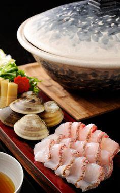 Awabi / Abalone kaisen (fish and shell) shabu shabu from Bangkok's Conrad hotel menu