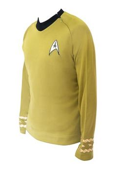 Star Trek Costume Captain Kirk TOS Uniform Classic The Original Series Shirt - cosplayboss  #StarTrek #startrektng #startrekdiscovery #startrektos #StarTrekTheNextGeneration #startrekbeyond #startrekvoyager #startrekfan #startrekcosplay #startrek50th #startreknextgeneration