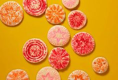 Secret Sugar Cookies - the recipe was kept secret for 30 years and the imprints can be made using the bottom of cut glass vases