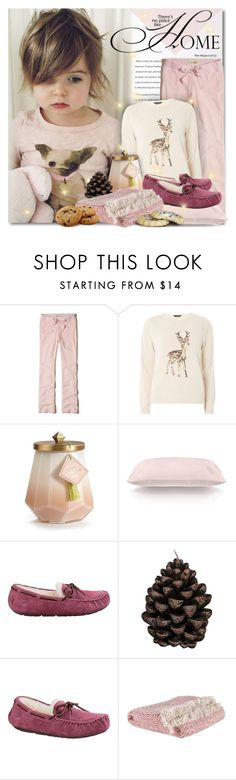 """Sweatpants Mood"" by petri5 ❤ liked on Polyvore featuring Hollister Co., Dorothy Perkins, Illume, Slip, Broste Copenhagen and UGG"