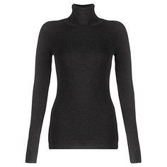 Buy Jigsaw Silk Cotton Polo Neck Sweatshirt Online at johnlewis.com