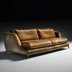 Contemporary Designer Velvet Sofa at Juliettes Interiors - Chelsea, London. Home Decor Furniture, Sofa Furniture, Luxury Furniture, Modern Furniture, Furniture Design, Sofa Set Designs, Modern Sofa Designs, Sofa Bench, Sofa Chair