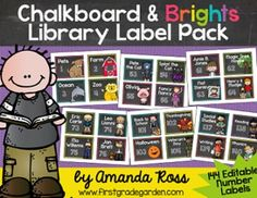 This pack contains labels for your classroom library. There are 144 different basket labels for various themes, genres, series, and authors. Check out the preview to see the entire list of labels included. Each label also has a spot for an editable number, so you can number your book baskets.