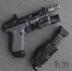 Custom Glock, Custom Guns, Tactical Equipment, Tactical Gear, Tactical Life, Weapons Guns, Guns And Ammo, Military Gear, Cool Guns