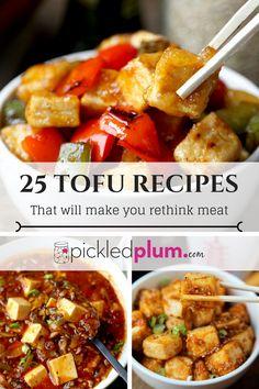 25 Tofu Recipes That Will Make You Rethink Meat - healthy tofu recipes, vegan tofu recipes, plant based recipes, easy tofu stir fries, tofu salad | pickledplum.com