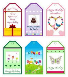 Pin by marina on etiquetas tags ii pinterest animaux free printable birthday gift tags httpmy free negle Gallery