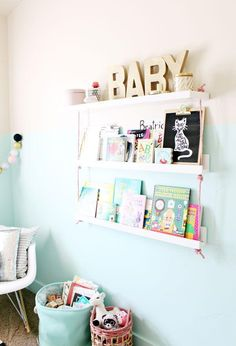 Books on display in kids' rooms